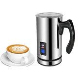 MáquinadecaféBioloMixdeespuma de leche de acero inoxidable Máquina de café eléctrica 220V Espumador de leche Espuma Calentador de leche Latte Cappuccino Burbuja Cafetera