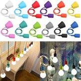 E27/E26 Socket Colorful Silicone Ceiling Pendant Lamp Light Bulb Holder Hanging Fixture