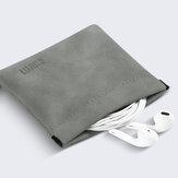 BUBM Estilhaços de aço inoxidável portátil à prova d 'água Bolsa Acessórios para fones de ouvido fone de ouvido Cartão de memória USB Organizer Cable PU Storage Bolsa