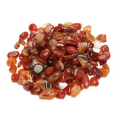 100g Kerikil Batu Akik Merah Alami Dipoles Penyembuhan Batu Kristal Kuarsa Spesimen DIY