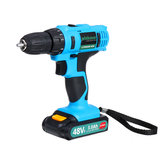 48VF 3000mAh Electric Drill Cordless Rechargeable Power Screwdriver 25+1 Torque W/ 1 or 2 Li-ion Battery