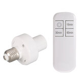 AC110V/220V Wireless Remote Control E27 Lamp Holder Timing Function Bulb Adapter Light Socket