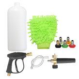 High Pressure Washer Gun Water Jet Snow Foam Lance Cannon w/ Glove 5 Nozzle Tips