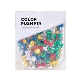 Jordan&Judy JJ-YD0026 Colored Push Pins Binder Clips Metal Thumb Tacks Map Drawing Push Pins Crafts Office Accessories School Supplies Stationery