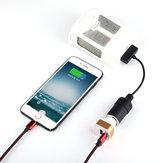 سيارة تحويل شاحن كابل البطارية شحن USB مدخل إلى التحكم عن بعد مراقبة هاتف لـ DJI Phantom 4