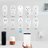 SONOFF® S26 10A AC90V-250V Smart WIFI Tomada CN / US / UK / AU / DE / FR / BR / CH / IL / IT Plugue sem fio Power Tomadas Smart Home Switch Trabalhe com Alexa Google Assistant IFTTT