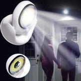 Батарея Приводные поворотные шарниры на 360 градусов LED PIR Движение Датчик Ночной свет для дома с внутренним освещением
