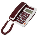 Desktop Landline Phone Wall Mounted Fixed Telephone FSK/DTMF Caller Corded Phone LCD Screen for Home Office Hotels