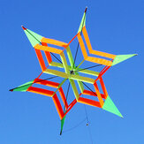 3D Colorful Flower Kite Single Line Udendørs sport Legetøj Lys Wind Flying Kids