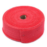 15m Exhaust Header Pipe Wrap Turbo Shields Heat Manifold Insulation Red