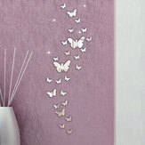 Honana DX-Y5 30PCS Butterfly Combination 3D Mirror Wall Stickers Decoração para casa DIY Room Decoration