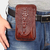 Men EDC Genuine Leather Retro 5.5 6.5 Inch Phone Holder Waist Belt Bag