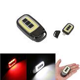 Mini portátil USB recarregável COB LED Lanterna Chaveiro Torquinho Luz de trabalho Lâmpada de acampamento ao ar livre