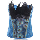 Plus Taglia S-6XL Push Up Peacock Feather Court Corset