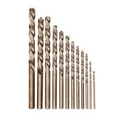 Drillpro 13 pcs 1.5-6.5mm HSS-Co M35 Cobalt Torção Broca Bit Set para Madeira de Metal Brocaing