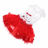 Sommer Hund Kleid Welpen Party Kleid Bubble Fruit Doggy Colorful Röcke
