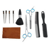 12pcs Hairdressing Hair Scissors Kit Portable Hair Cutting Thinning Shears Razor Comb