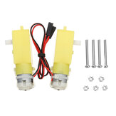 KittenBot 2Pcs 5V 200RPM TT Motor de engrenagem para robô inteligente Parte DIY