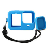 RUIPGRO Protective and Lens Cover with Lanyard Accessories Blue/Black for GOPRO 9 Camera