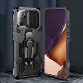Bakeey for Samsung Galaxy Note 20 Ultra / Galaxy Note 20 Case Dual-Layer Rugged Armor Magnetic with Belt Clip Stand Non-Slip Anti-Fingerprint Shockproof Protective Case