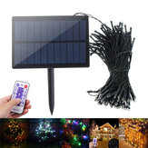 Zasilany energią słoneczną Dimmable 17M 8 trybów Timer 100 LED Fairy String Light Christmas Decor Pilot