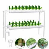 110-220V Hidroponik Büyüme Kit 36 Alan 4 Borulu 2 Katmanlı Bahçe Bitki Sebze Aletler Bahçeing Kutu Fidanlık Saksıları Hidroponik Raf