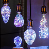 E27 3W Vintage Edison LED Multi-Color Holiday Democratische Gloeilamp Voor Party Christmas AC85-265V