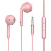 Kabelová sluchátka TOPK F17 Stereo Super Bass Dynamic Driver HD Sluchátka do uší 3,5 mm sportovní sluchátka Macaron s mikrofonem