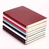 1pcs Soft cubierta de cuero de la PU diario de escritura 100 páginas diario libro para oficina Escuela uso