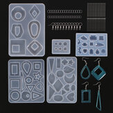 245Pcs DIY Silicone Earring Pendant Mold Resin Epoxy Jewelry Making Mould Tools