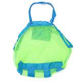 La herramienta del juguete ropa bolsa de playa al aire libre del bebé niños bolsa de malla de asas de la bolsa de recogida de almacenamiento mamá cubierta