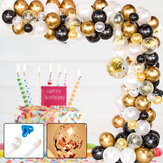 120 pièces bricolage rétro or ballon guirlande arc Kit Chrome or Ballon pour anniversaire bébé douche mariages fête décoration