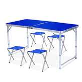 1.2M Foldable Table Kitchen Dinning Garden Outdoor Picnic Camping Foldable Portable with 4 Chairs And Table Set