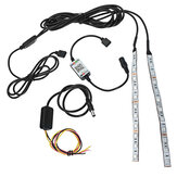 2Pcs 20cm flessibile RGB 12-LED Demon Angel Eyes Lights Kit 5W 12V Phone APP Control per 2.5