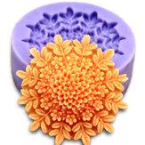 3D Mini Peony del fondente della torta del silicone muffa del cioccolato Stampi torta che decora l'attrezzo cottura