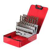 Original              Drillpro 54Pcs 1-6mm M35 Cobalt Drill Bit Set HSS-Co Jobber Length Twist Drill Bits with Metal Case for Stainless Steel Wood Metal Drilling
