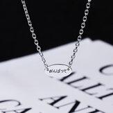 Ожерелье из стерлингового серебра SHENLIN S925, простое ожерелье, цепочка с ключицей, любители личности, Кулон, ожерелье