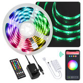 BlitzWolf® BW-LT34 5M WiFi RGB Music LED Strip Kit + EU/US Plug + 40 keys IR Remote Control Works with Alexa Google Assistant Christmas Decorations Clearance Christmas Lights