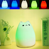 Rechargeable Color Changeable Silicone LED Sensitive Tap Control Night Light for Home