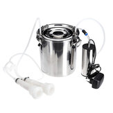 5L Electric Milking Machine Stainless Steel Cow Goat Sheep Bucket Suction Milker Vacuum Pump Household