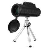 40X60 10X HD Cell Phone Telescope Portable Monocular Mobile Phone Telephoto Lens with Tripod for Outdoor Mobile Photography