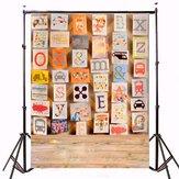 3x5 pés placa do retrato do alfabeto crianças fundo de fotografia de vinil