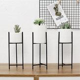 Schwarz Metall Rack Keramik Sukkulente Topf Blume Pflanzer Garten Home Decor Dekorative Hardware
