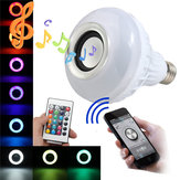E27 LED RGB Bluetooth Speaker Bulb Wireless 12W Daya Musik Bermain Cahaya Lampu