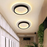 LED Dimmable Ceiling Light Square/Round Lamp Fixtures Bedroom Cloakroom 85-265V