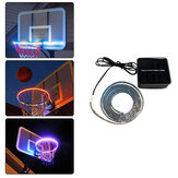 Basketbalring Sensor-geactiveerd RGB 45 LED Solar Strip Light 8 Flash Modes Lamp