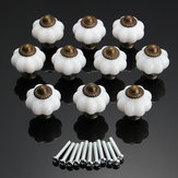 10Pcs Vintage Door Knobs Cabinet Drawer Cupboard Furniture Kitchen Pull Handles