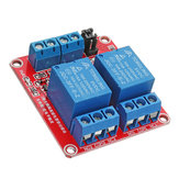 3Pcs 5V Módulo de relé de acoplador óptico de acionador de 2 canais Geekcreit para Arduino - produtos que funcionam com placas oficiais Arduino