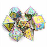 7 Pçs / set Liga de Metal Conjunto de Dados Jogando Jogos Cartão de Pôquer Masmorras Dragões Partido Brinquedo Jogo de Tabuleiro