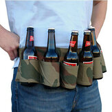 6 Pack Bier Soda Belt Drinken Bier Belt Holder Bottlr Carrier Voor Outdoor Camping Party